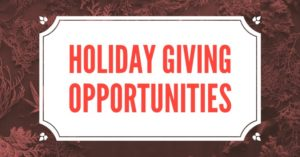 Holiday Giving Oppertunities